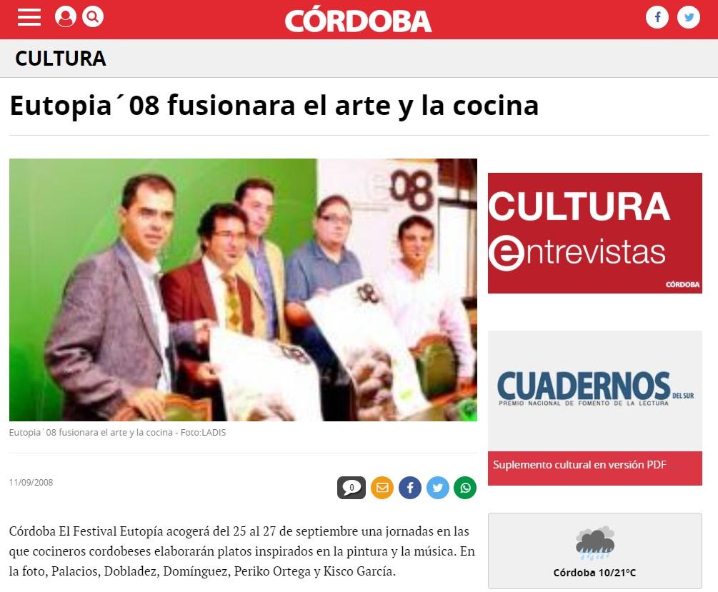 Eutopía '08 fusionará el arte y la cocina.