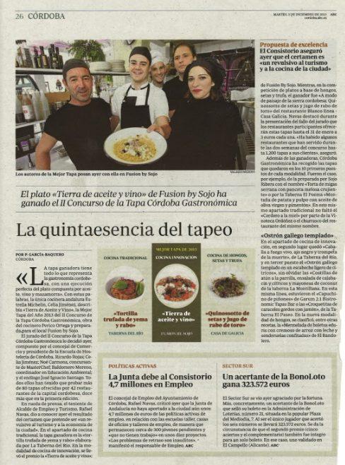 El cocinero Pedro Miguel Ortega, segundo premio en un concurso nacional
