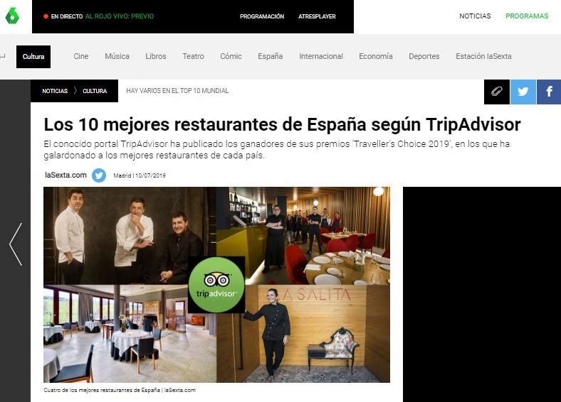El restaurante Recomiendo, sexto mejor restaurante de la alta cocina española
